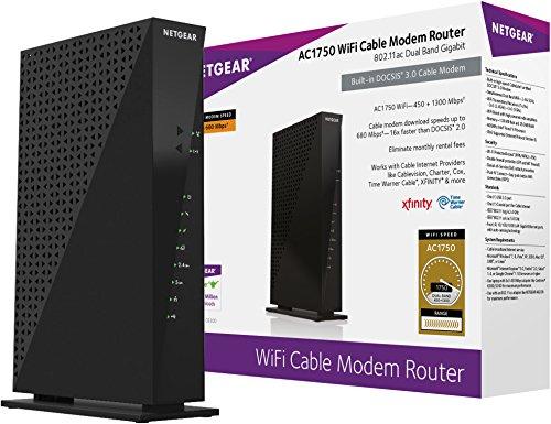 Netgear C6300-100NAS AC1750 16×4 DOCSIS 3 0 WiFi Cable Modem Router